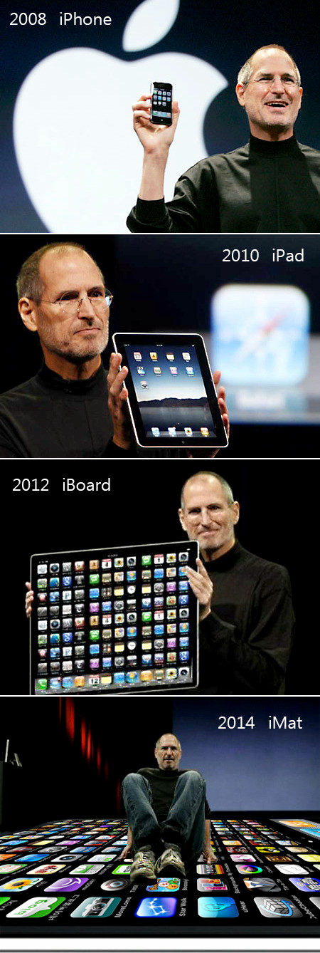 【 画像 】 2008 iPhone - 2010 iPad - 2012 iBoard - 2014 iMat