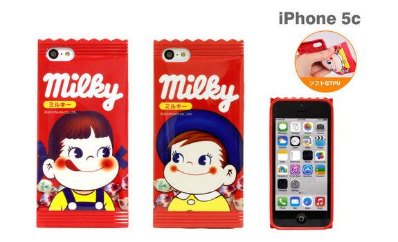 不二家ミルキー「ペコちゃん&ポコちゃん」iPhoneケース