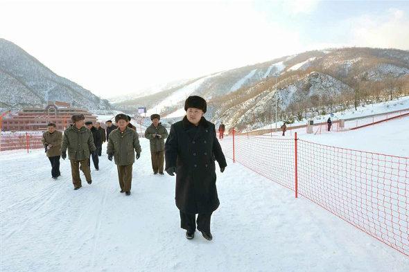 【北朝鮮】金正恩、スキーリゾート視察3