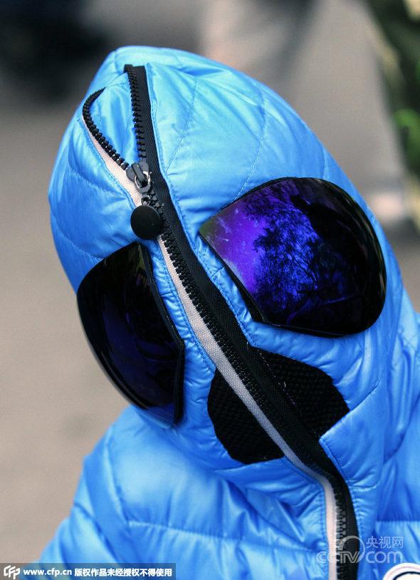西安、大気汚染対策で3歳児の完全防護防塵服3
