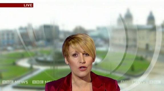 BBCニュースのカメラエラー