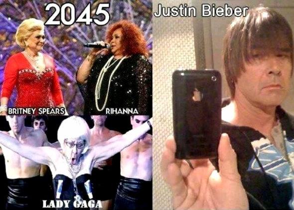 【画像】 2045年の、ブリトニー、リアーナ、ガガ、ジャスティン