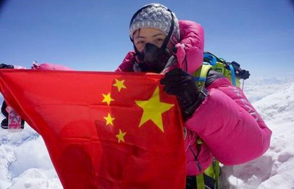 【中国】エベレスト登頂の中国人女性、王静(ワン・ジン)氏1