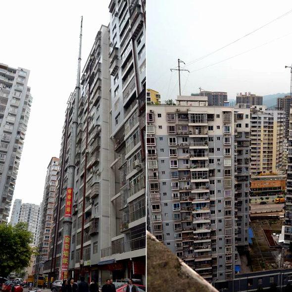 【中国】 19階建てビル並みの超巨大電柱 1