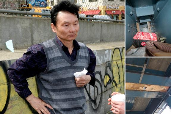 米NY、マンハッタン橋の隙間に住み着いた中国人、警察から排除2