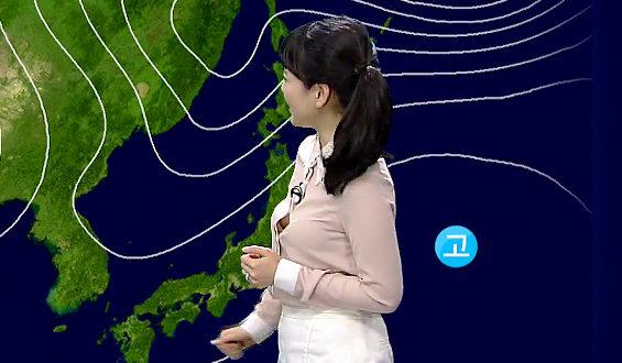 韓国のお天気お姉さん趙京雅 1