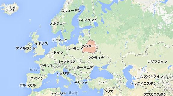 ベラルーシ、地図