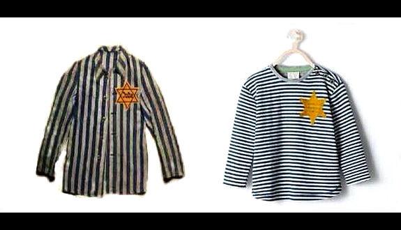 ZARAの新作Tシャツがナチの収容所の服にそっくり!