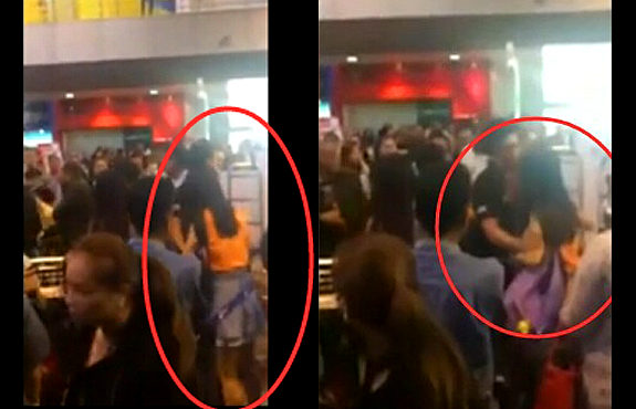 【動画】タイの空港で中国人が列に割り込み!
