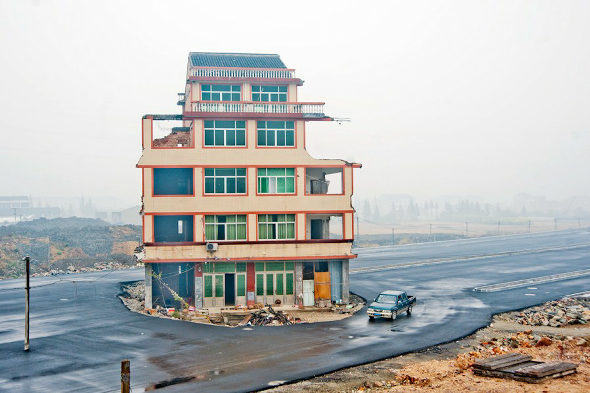 中国、「最もハチャメチャな立ち退き拒否」 1