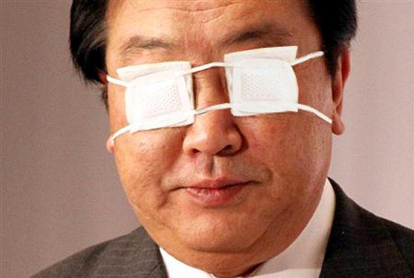 【画像】 野田首相、両目に眼帯