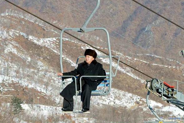 【北朝鮮】金正恩、スキーリゾート視察1