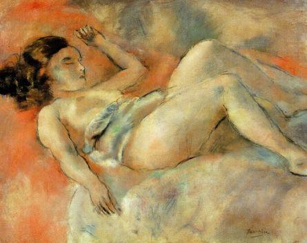 パスキン「眠る裸女」