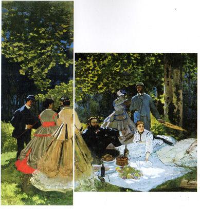 モネ「草上の昼食・大」