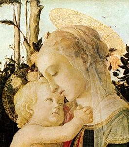 ボッティチェリ「聖母子と洗礼者ヨハネ」部分