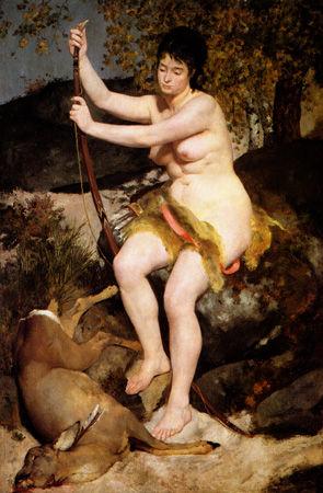 ルノワール「狩猟をするディアナ」