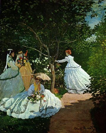 モネ「庭の女性たち」