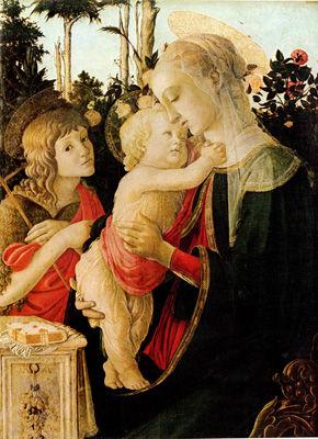 ボッティチェリ「聖母子と洗礼者ヨハネ」