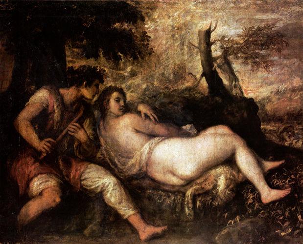 ティツィアーノ「ニンフと牧童」