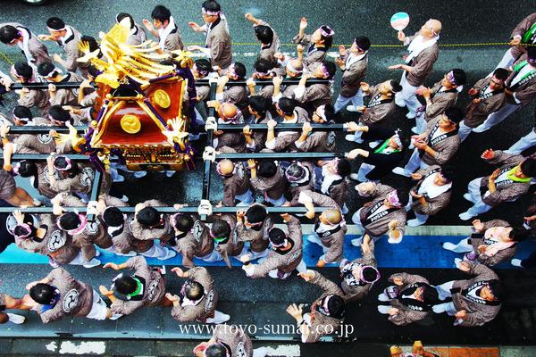 大宮の風景 夏祭り スパークカーニバル サンバと神輿アC