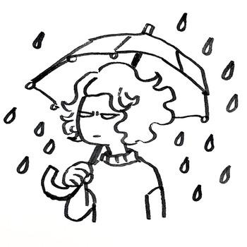 0523梅雨に傘さし嫌気さし
