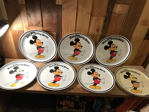 vintage disney world mickey mouse metal tray