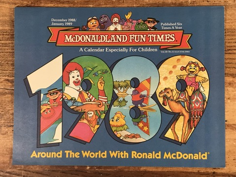 "Vintage McDonaldland Fun Times ""Around The World"" Magazine (4)"