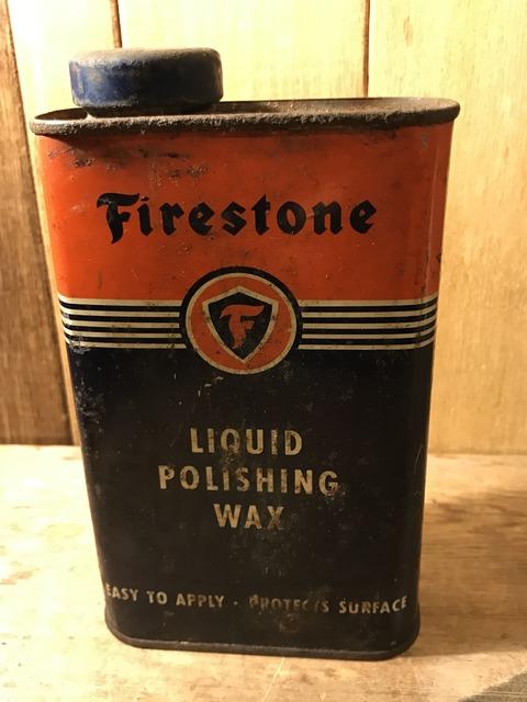 vintage firestone liquid polishing wax tin can (1)