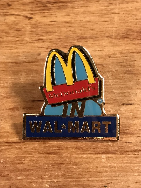 "Vintage McDonald's ""Wal Mart"" Metal Pins (1)"