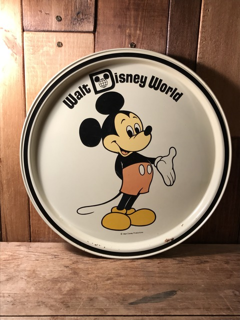 vintage disney world mickey mouse metal tray (124)