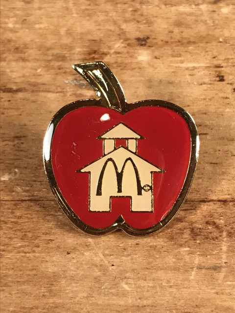 "Vintage McDonald's ""Schoolhouse Apple"" Enamel Pins (1)"