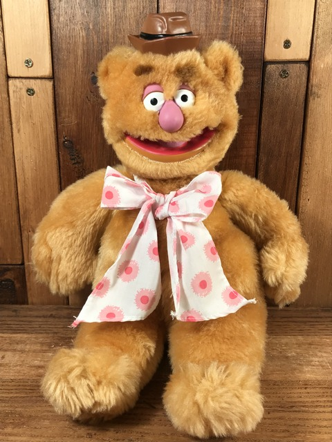 """Vintage The Muppets """"Fozzie Bear"""" Plush Doll (1)"""