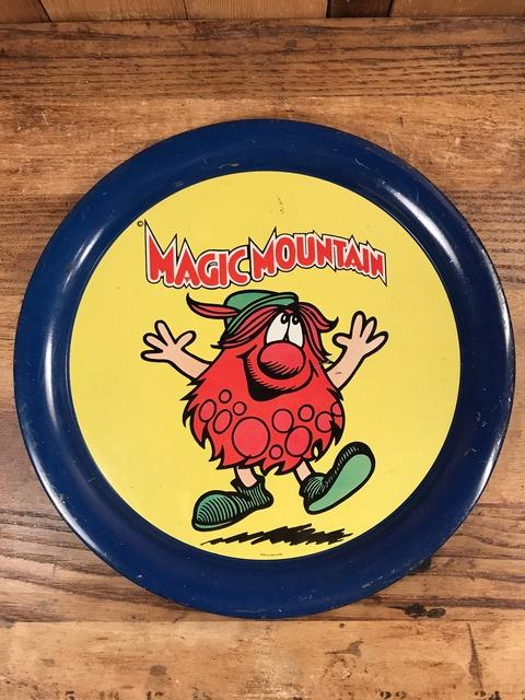 Vintage Six Flags Magic Mountain Troll Tin Tray (1)