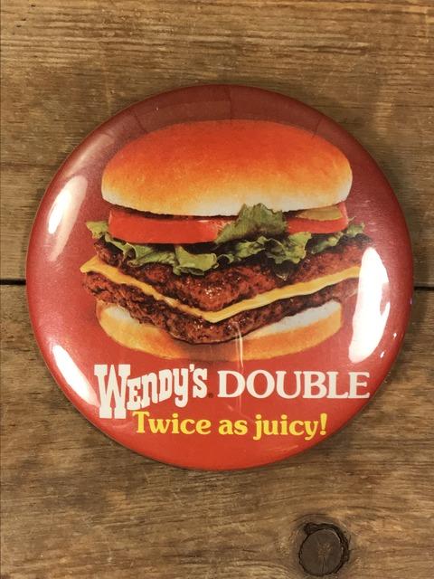 Vintage Wendy's Restaurant Big Pinback (48)