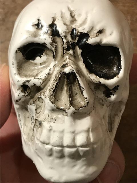 vintage ceramic skull salt & pepper shaker (9)