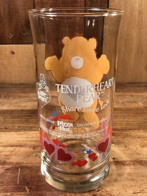 "Vintage Pizza Hut Care Bears ""Tenderheart Bear"" Glass (4)"
