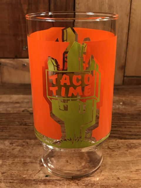 """Vintage Mexican Fast Food Restaurant """"Taco Time"""" Glass (1)"""