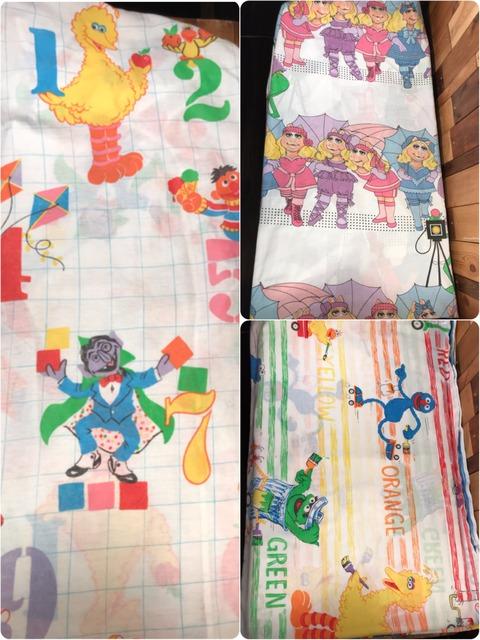 Vintage Sesame Street Bed Sheet