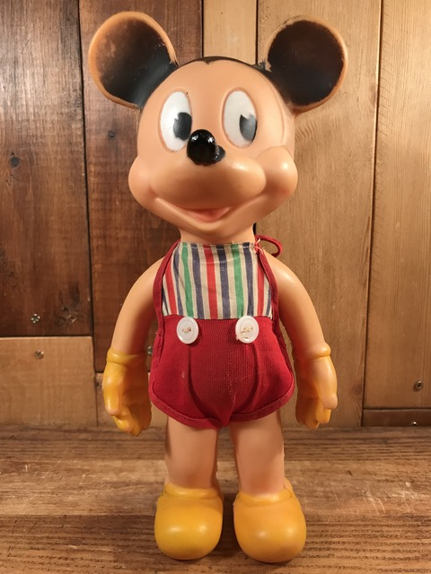 Vintage The Sun Rubber Disney Mickey Mouse Squeeze Doll (1)