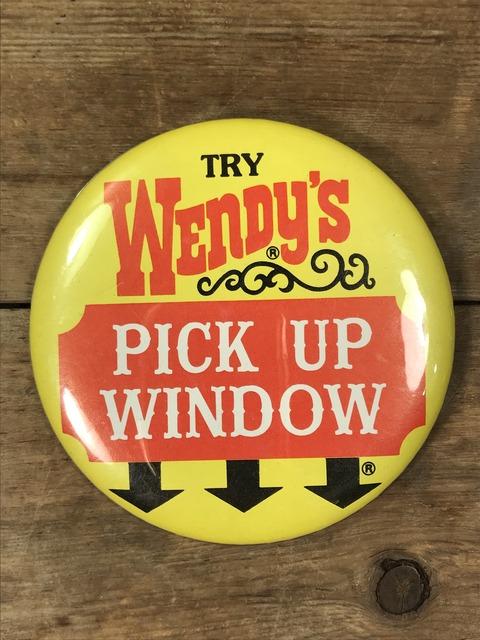Vintage Wendy's Restaurant Big Pinback (64)