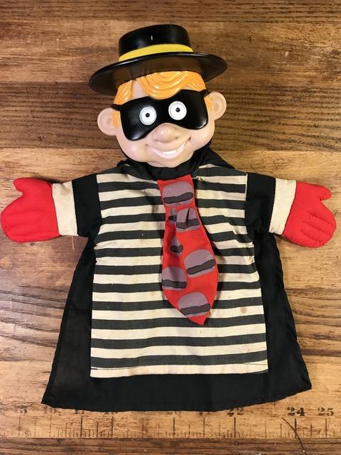 Vintage McDonald's Hamburglar Hand Puppet Doll (9)