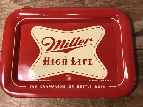 vintage miller high life tin tray (2)