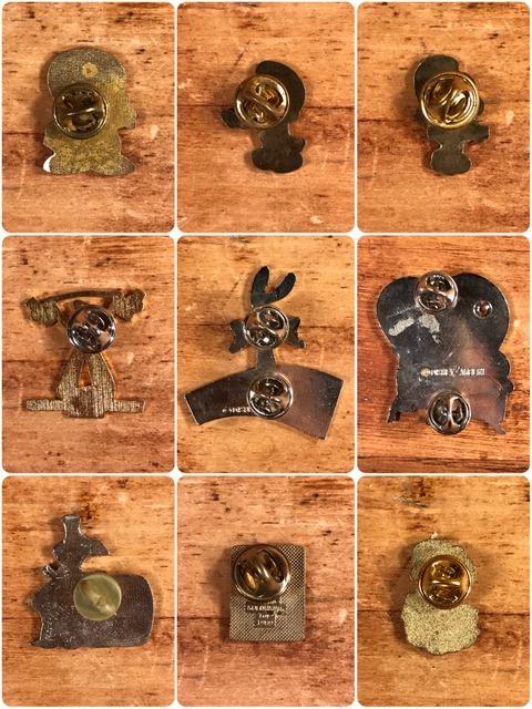 Vintage Character Metal Pins (6)