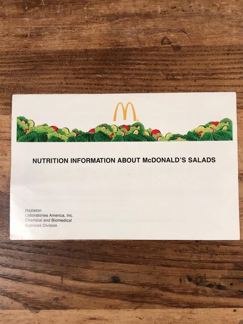 Vintage McDonald's Salads Pamphlet (1)