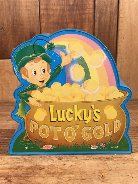 Vintage Lucky's Pot O' Gold Coin Bank (1)