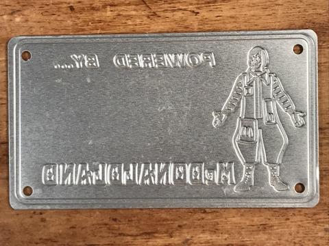 "Vintage McDonaldland ""Ronald"" Metal License Plate (2)"