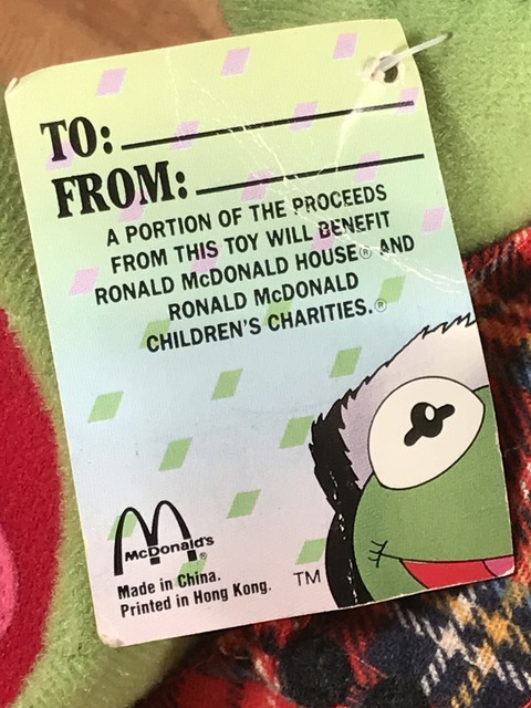 "Vintage McDonald's Muppet Babies ""Baby Kermit"" Plush Doll (21)"