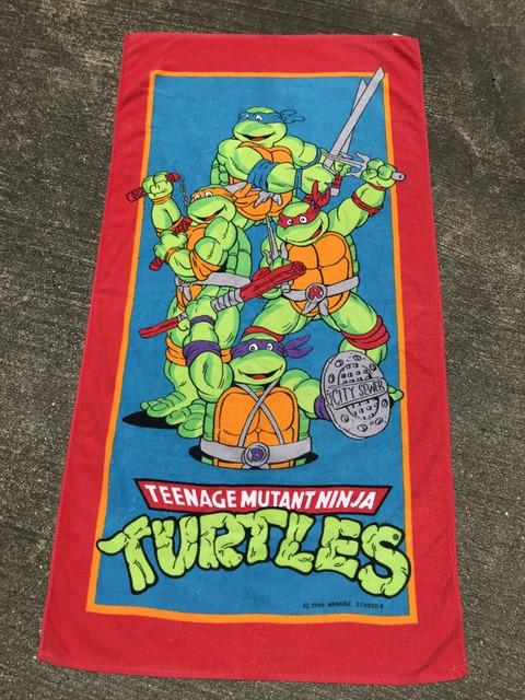Vintage Teenage Mutant Ninja Turtles Beach Towel (1)