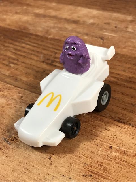 "Vintage McDonald's Fast Macs ""Grimace"" Pull Back Car (2)"