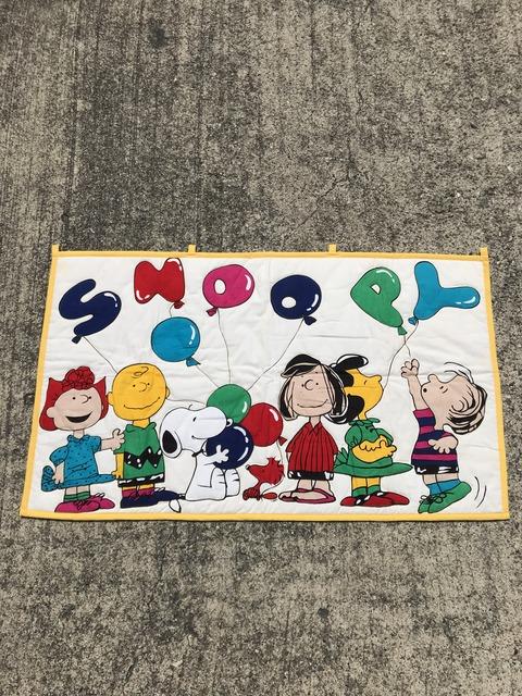 "Vintage Peanuts Snoopy ""Balloon"" Quilting Bedding (1)"